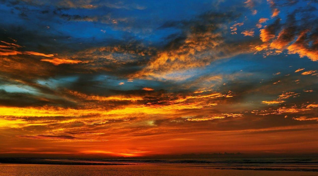amanecer-rojo-mar-paisajes-naturaleza wallpaper