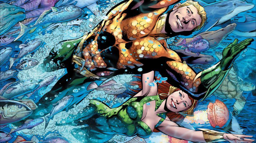 Aquaman and Mera wallpaper