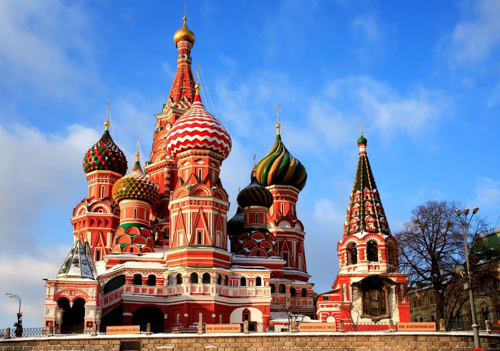 Russia Moscow St Basil's Cathedral Building wallpaper