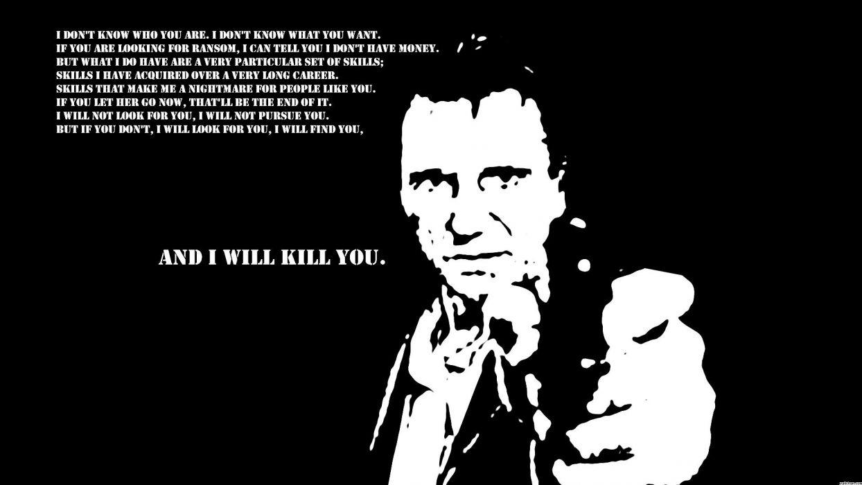 TAKEN action thriller spy crime liam neeson 1taken weapon gun pistol dark sadic death kill wallpaper