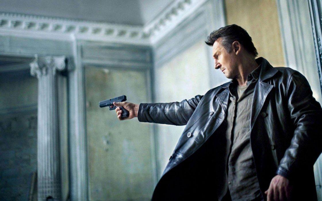 TAKEN action thriller spy crime liam neeson 1taken weapon gun pistol wallpaper