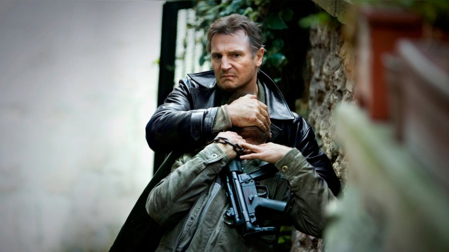 TAKEN action thriller spy crime liam neeson 1taken weapon gun pistol wallpaper