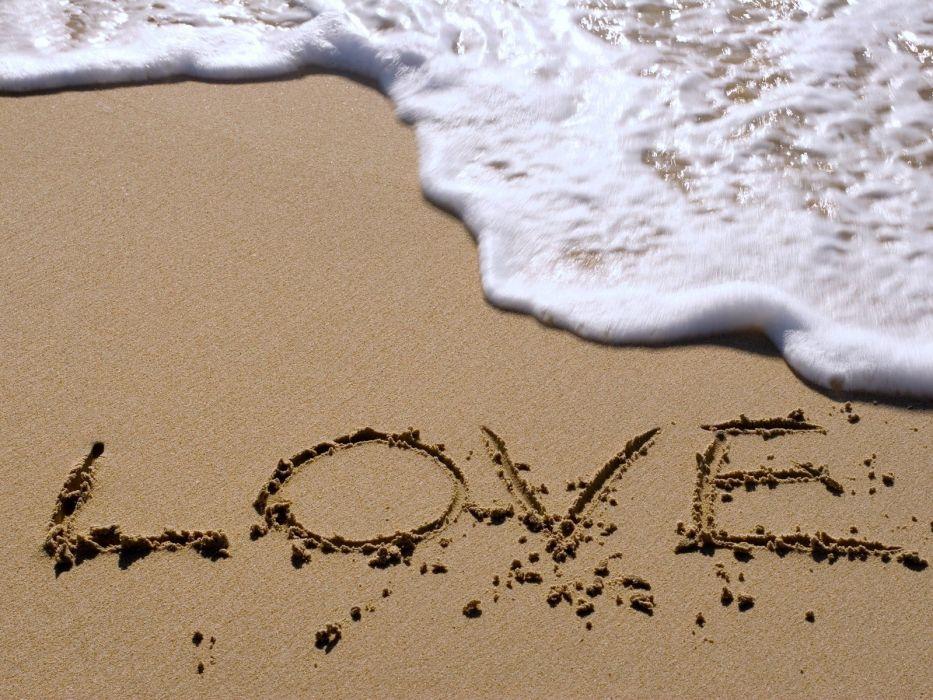 love beach sea sand wallpaper