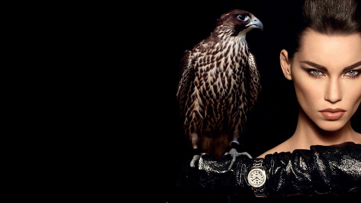 beautiful - sensual - and-hot woman hawk wallpaper
