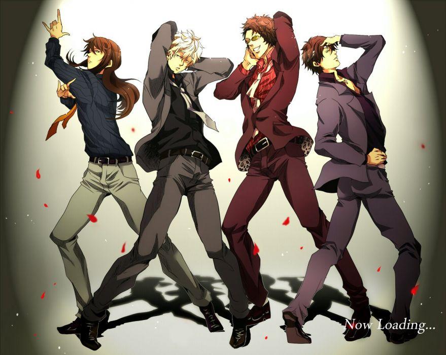 anime boys series gintama-sunrise sakata gintoki characters petals wallpaper