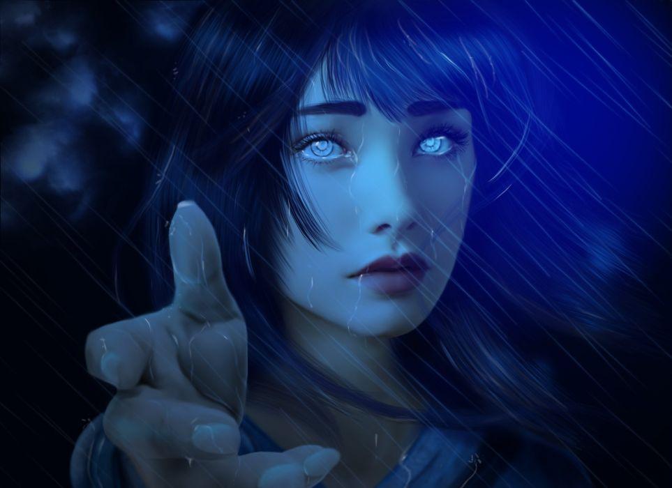 anime series naruto hinata characters girl blue eyes face wallpaper