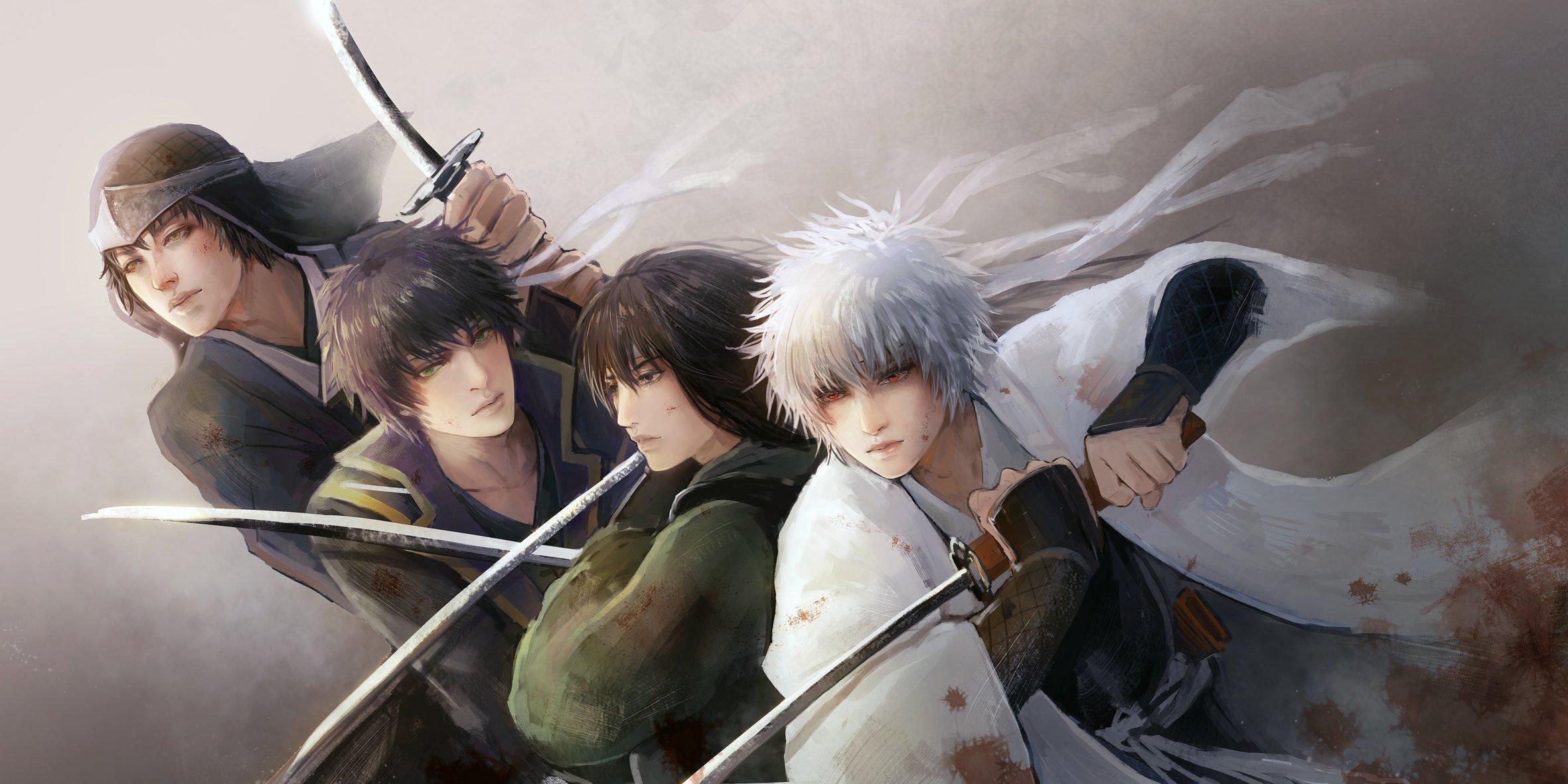Hd wallpaper anime couple - Anime Series Gintama Sword Samurai Warrior Guys Character