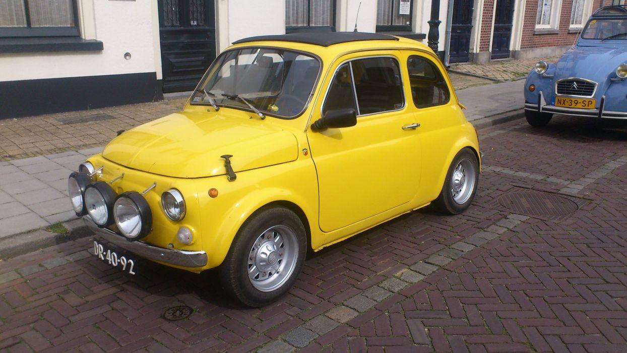 Fiat Cinquecento 500 cars classic italia italie wallpaper