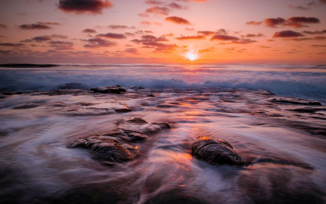 mar-amanecer-olas-sol-playa-naturaleza wallpaper
