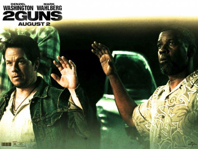 2 GUNS action comedy crime police 12guns gun guns thriller weapon wallpaper
