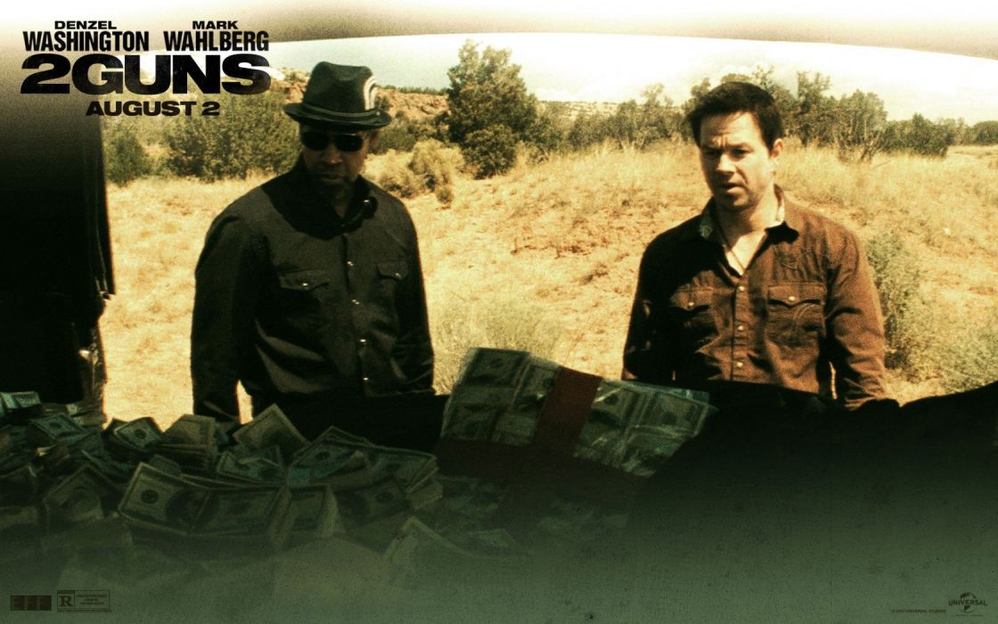 2 GUNS action comedy crime police 12guns gun guns thriller weapon wallpaper