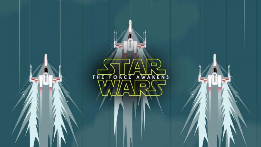STAR WARS FORCE AWAKENS action adventure futuristic science sci-fi 1star-wars-force-awakens spaceship poster wallpaper
