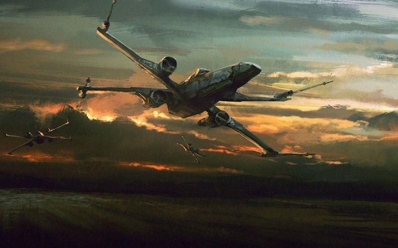 STAR WARS FORCE AWAKENS action adventure futuristic science sci-fi 1star-wars-force-awakens spaceship wallpaper
