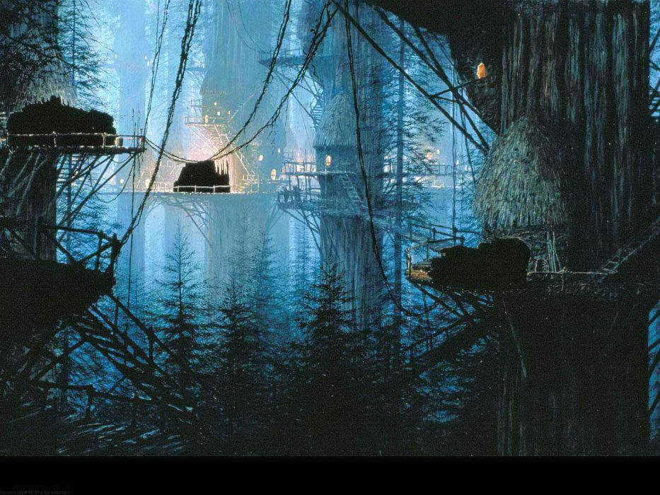 STAR WARS FORCE AWAKENS action adventure futuristic science sci-fi 1star-wars-force-awakens fantasy forest city town wallpaper