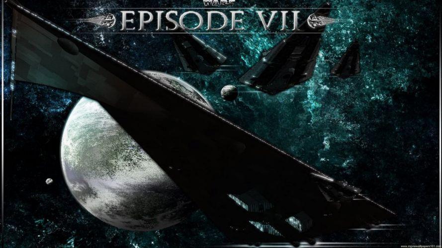 STAR WARS FORCE AWAKENS action adventure futuristic science sci-fi 1star-wars-force-awakens poster spaceship wallpaper