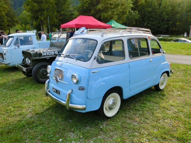 cars classic Fiat 600 Minivan multipla Italia italie wallpaper