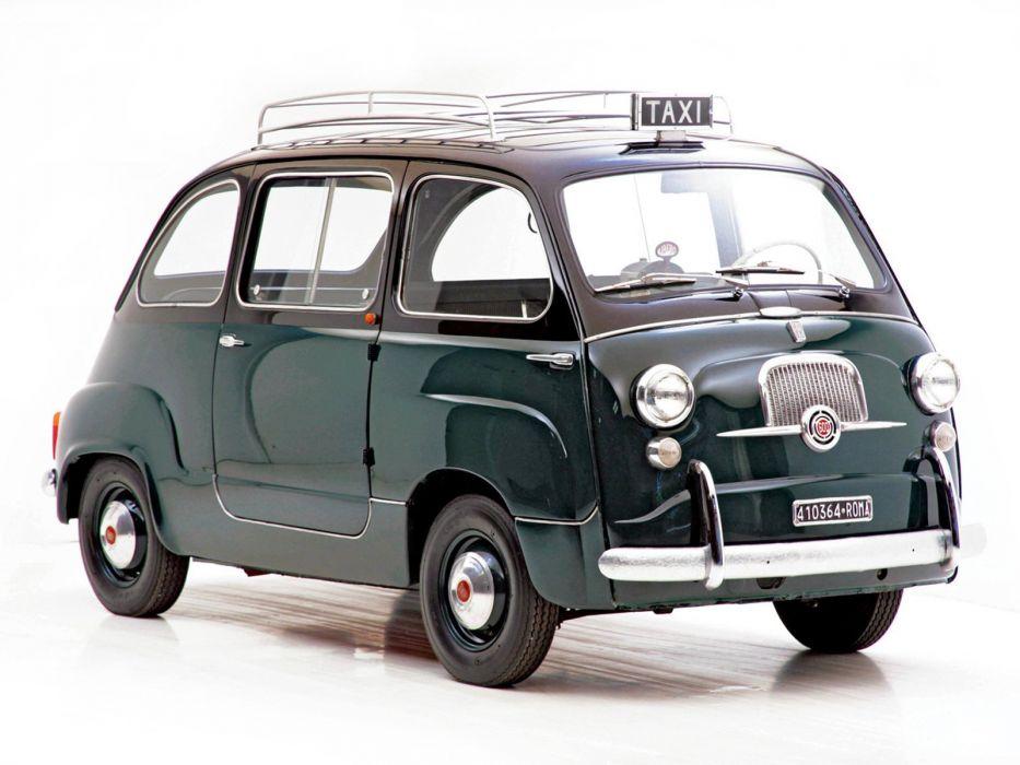 cars classic Fiat 600 Minivan multipla Italia italie cab taxi wallpaper