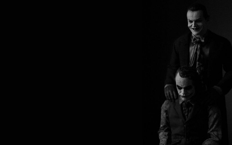 Jack Nicholson and Heath Ledger The Jokers wallpaper