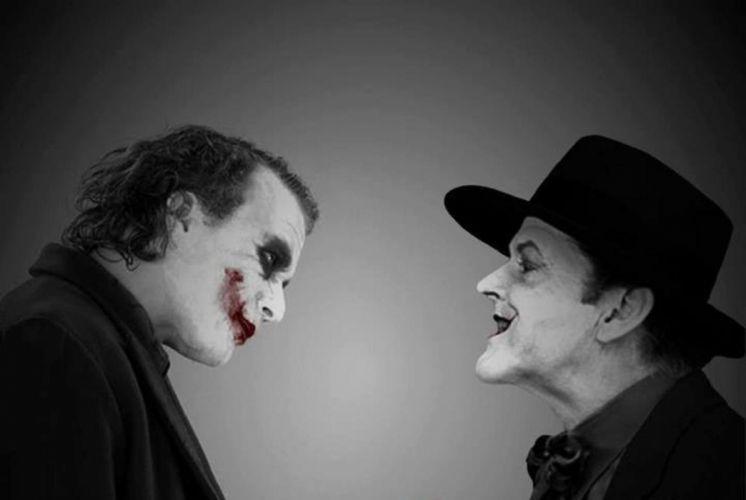 Jack Nicholson and Heath Ledger The Jokers wallpaper