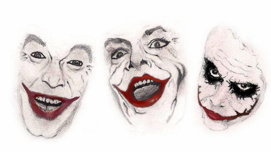 Three legendary Jokers wallpaper