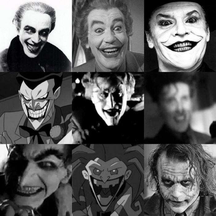 Many faces of the Joker wallpaper