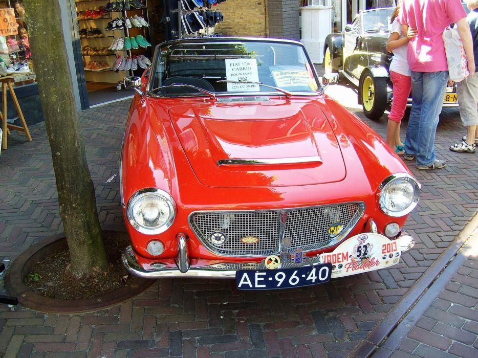 1200 cars classic Fiat Italia italie cabriolet convertible wallpaper