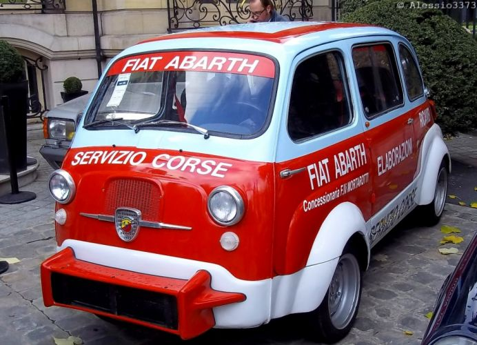 Fiat Abarth 600 Multipla ninivan classic racecars wallpaper