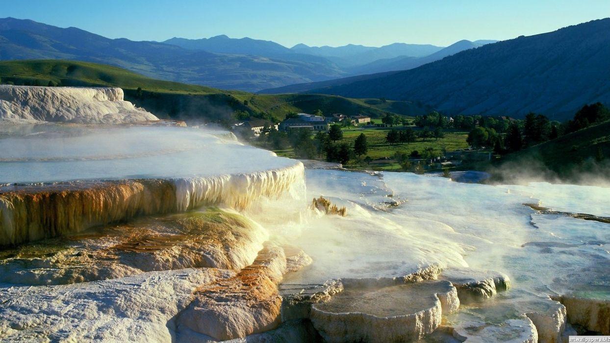 nature-landscapes hdwallpaper beautiful-hot-springs wallpaper