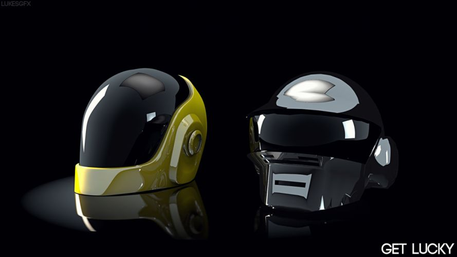 two-helmet-Daft-Punk-Get-Lucky1 wallpaper