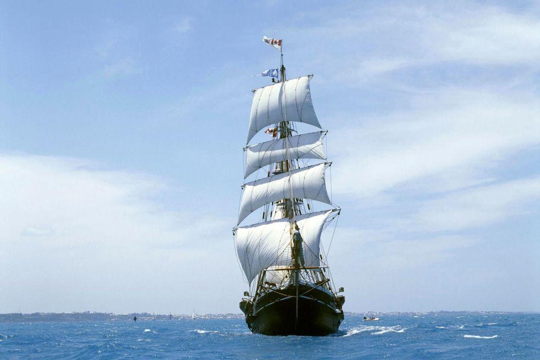 ship - ocean - sails wallpaper