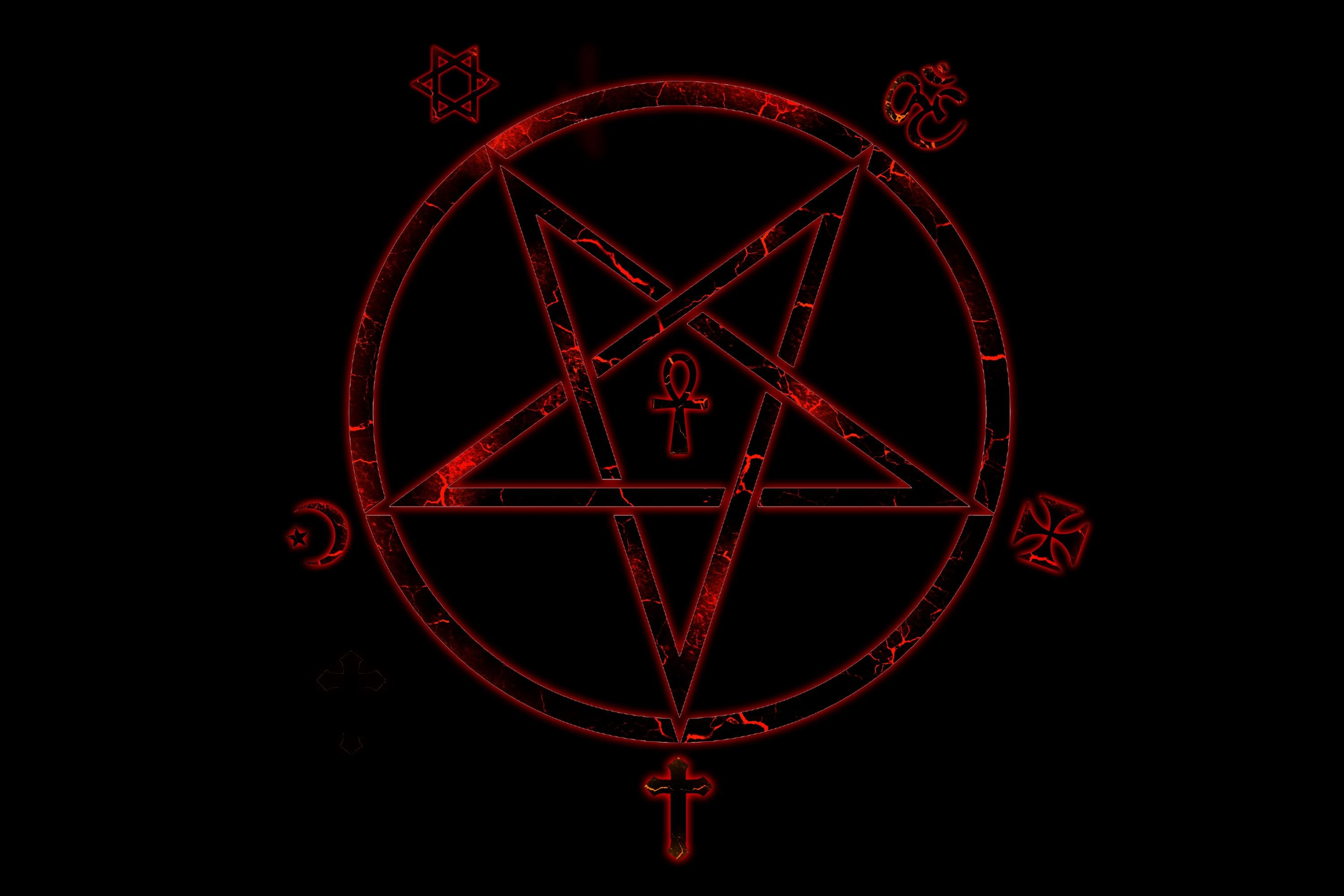 dark horror evil occult satan satanic creepy wallpaper 3000x2000