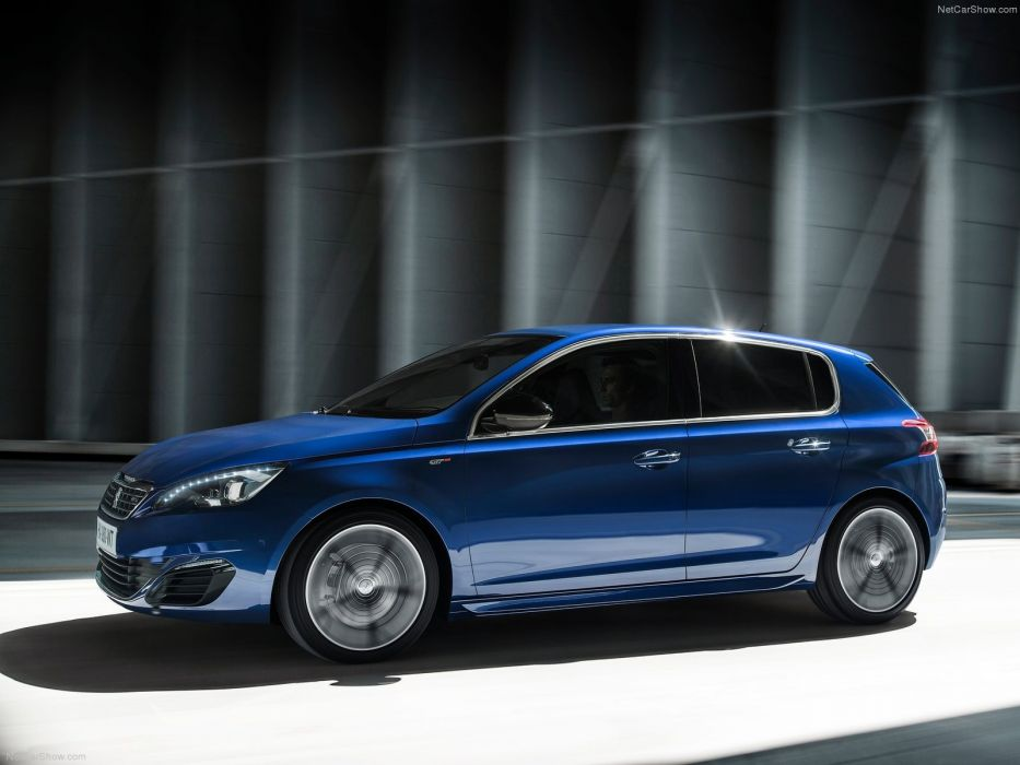 Peugeot 308 GT 2015 cars french blue bleu wallpaper