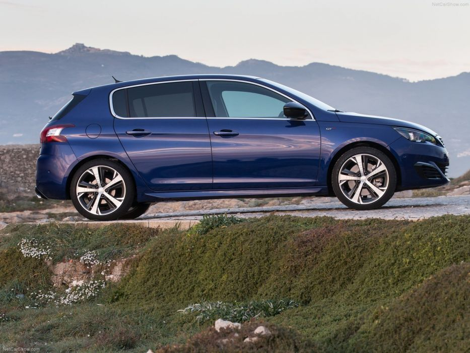 Peugeot 308 GT 2015 cars french blue bleu wallpaper