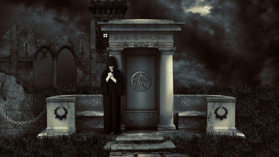WICCA wiccan witch dark occult fantasy religion wallpaper