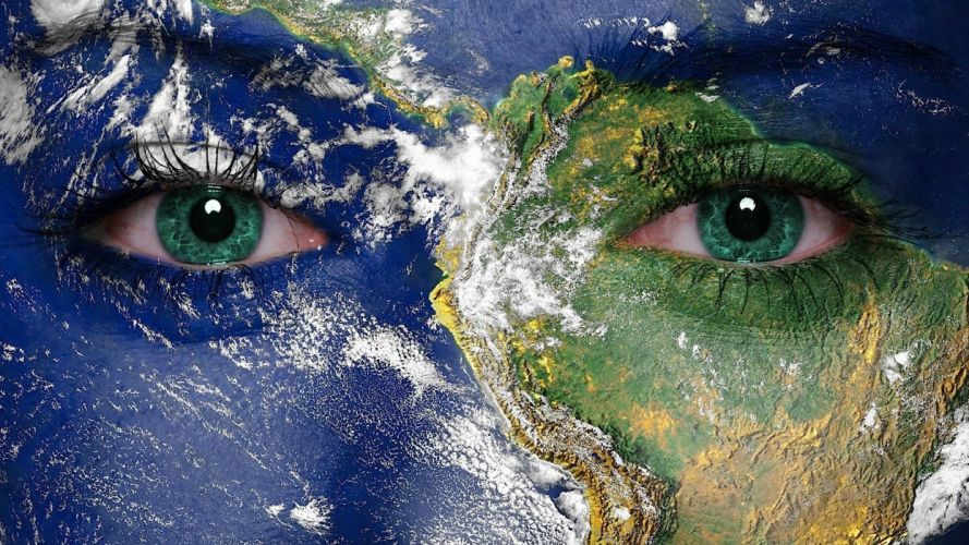 WICCA wiccan witch dark occult fantasy religion earth face planet wallpaper