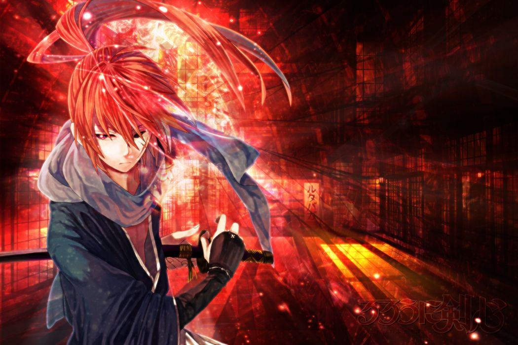 Rurouni Kenshin warrior fantasy anime warrior japanese samurai action fighting wallpaper