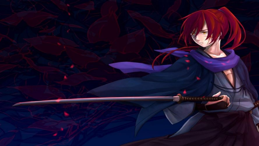 Rurouni Kenshin warrior fantasy anime warrior japanese samurai action fighting martial wallpaper
