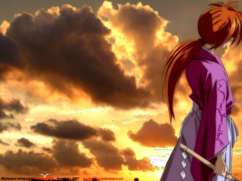Rurouni Kenshin warrior fantasy anime warrior japanese samurai action fighting martial wallpaper
