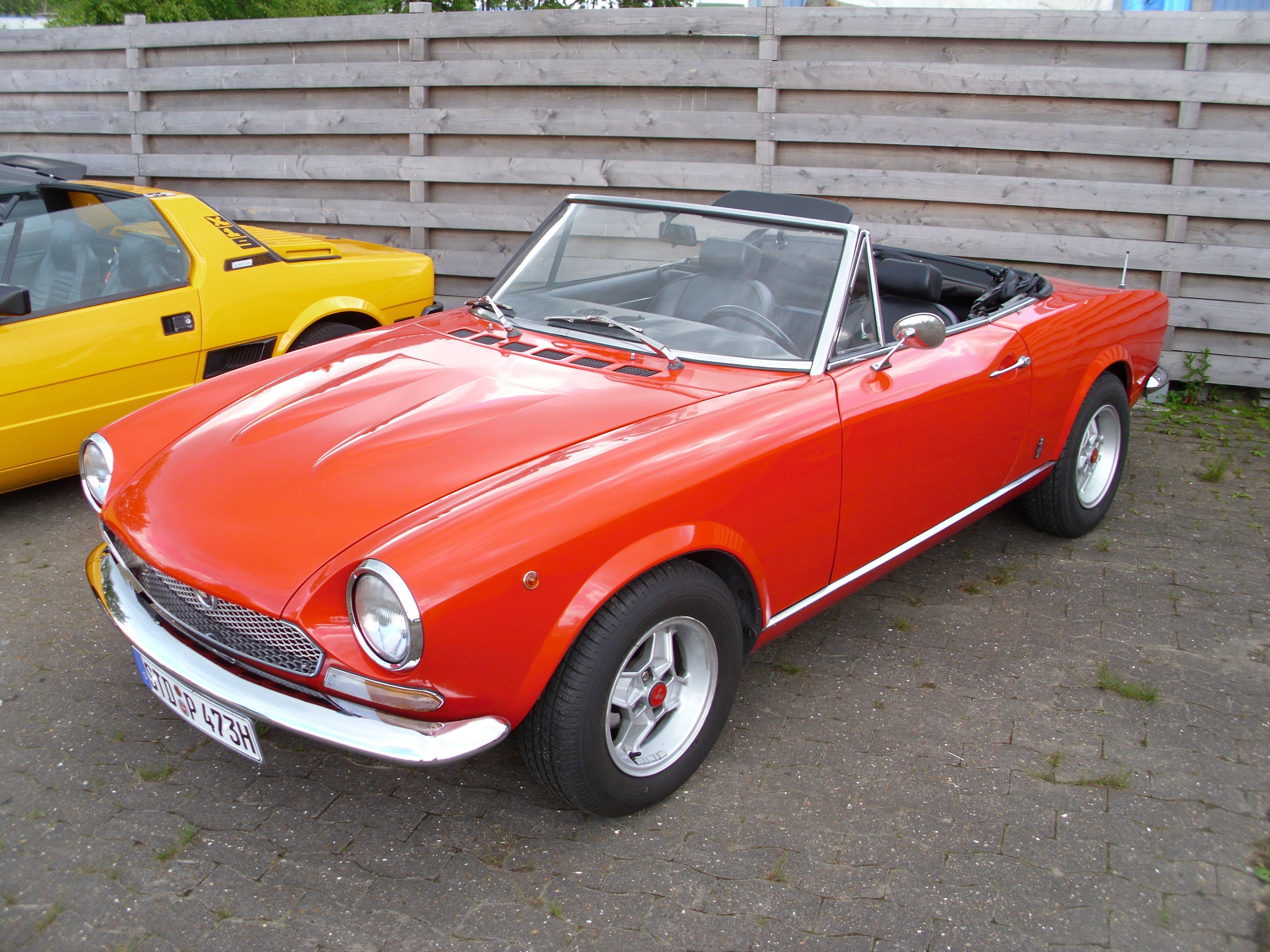fiat 124 sport spider 1600 classic cars convertible italia wallpaper 4000x3000 605139. Black Bedroom Furniture Sets. Home Design Ideas