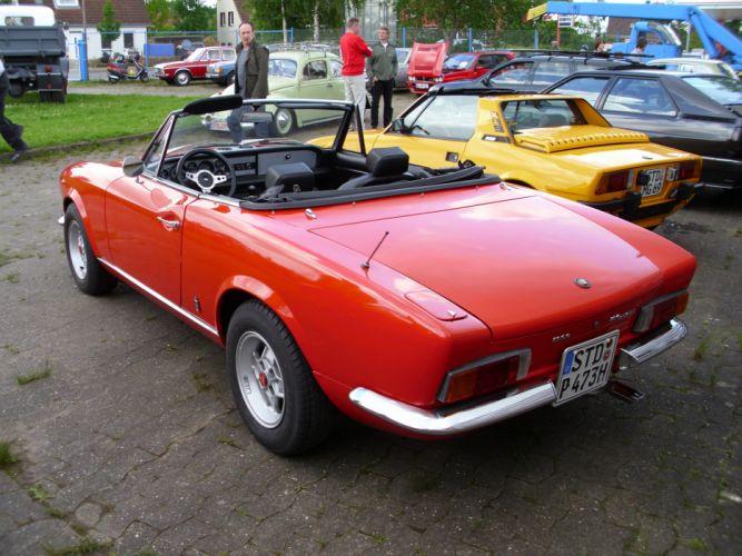 FIAT 124 SPORT SPIDER 1600 classic cars convertible italia wallpaper