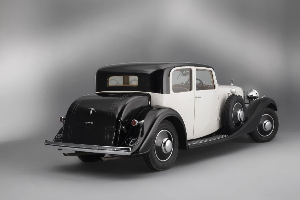 1934 Hispano Suiza J12 T68 Berline Vanvooren luxury retro vintage wallpaper