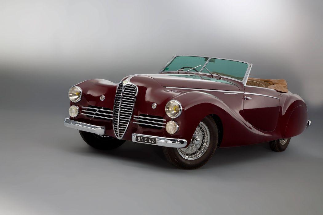 1950 Delahaye 135 M-S Cabriolet Saoutchik retro vintage wallpaper