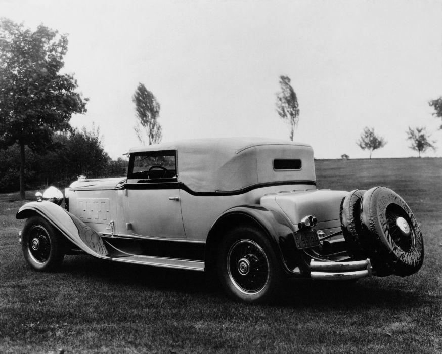 1930 Packard Deluxe Eight Convertible Victoria Waterhouse luxury retro vintage wallpaper