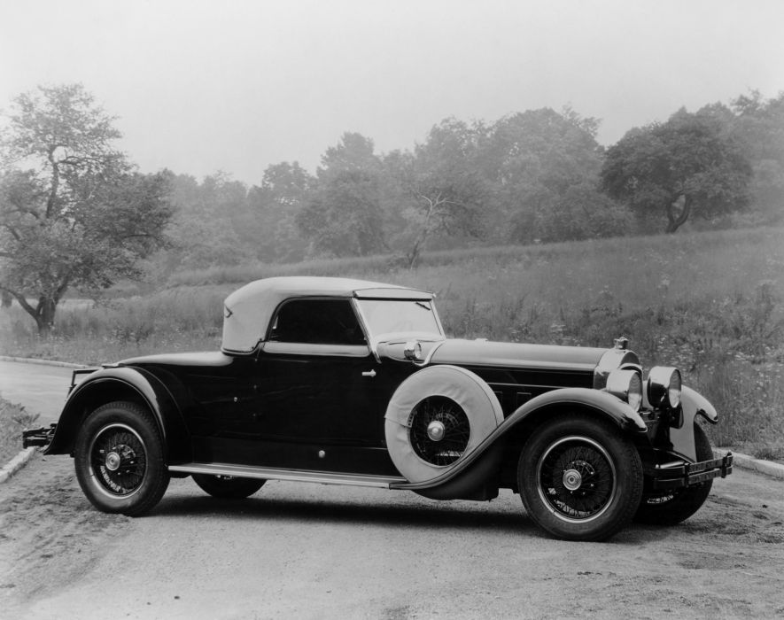 1928 Packard Custom Eight Roadster Derham luxury retro vintage wallpaper