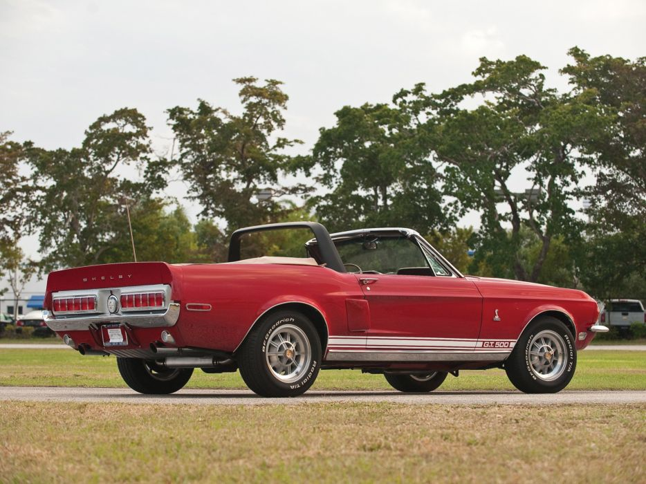1968 Shelby GT500 Convertible muscle classic ford mustang g-t wallpaper