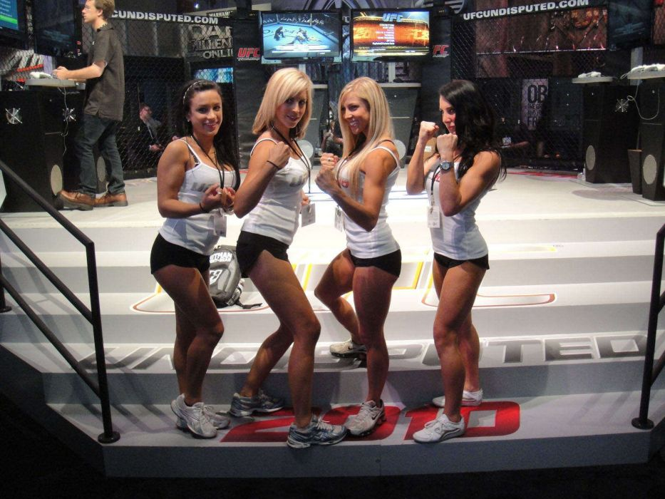 UFC mma fighting martial arts wrestling boxing sexy babe cheerleader wallpaper