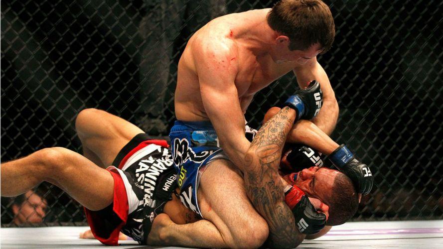 UFC mma fighting martial arts wrestling boxing blood wallpaper
