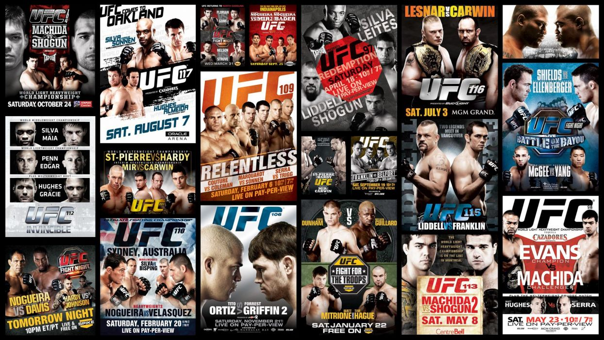 UFC mma fighting martial arts wrestling boxing collage poster wallpaper