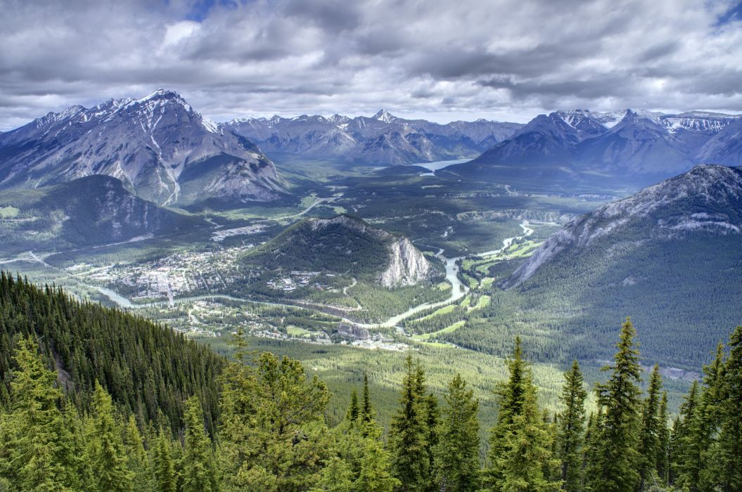 amazing landscape with national park canada wallpaper