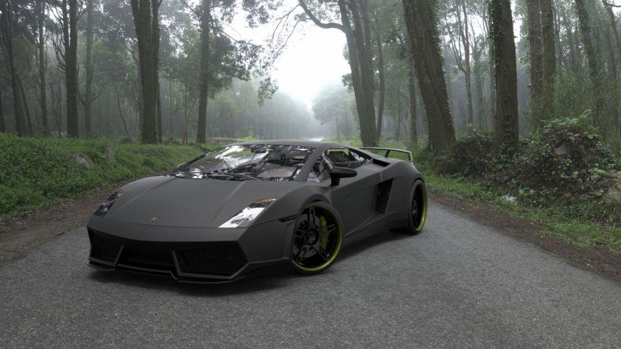 beauty black Ferrari wallpaper